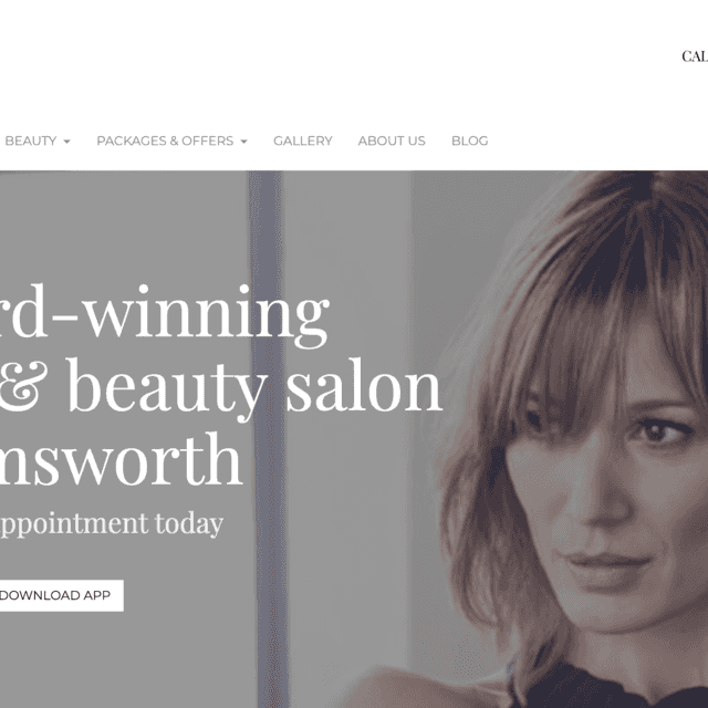 new salon website